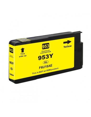 Patrone für Drucker Hp F6U18AE 953XL Gelb kompatibel