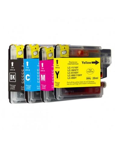 Cartouche pour imprimante Brother LC 61, LC1100, LC980 XL Noir