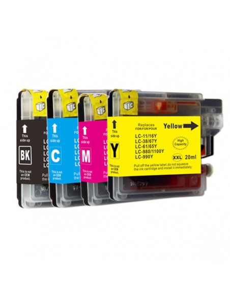 Cartridge for Printer Brother LC 61, LC1100, LC980 XL Black