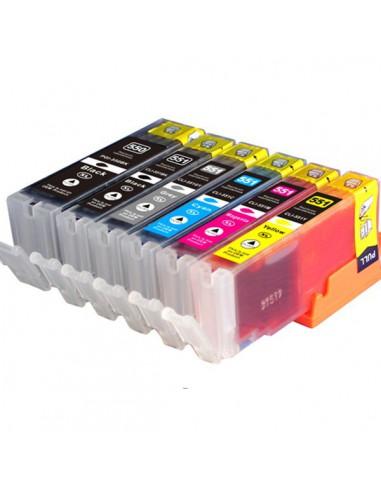 Cartouche pour imprimante Canon CL 551 XL Cyan compatible