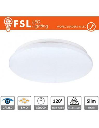 Plafoniera LED SLIM 18W - 4000K 1370LM 120º 330X55 mm +CRI 80