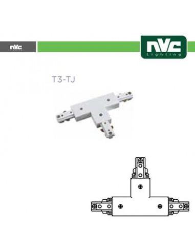 Connettore Forma T Binario Monofase - Colore Bianco