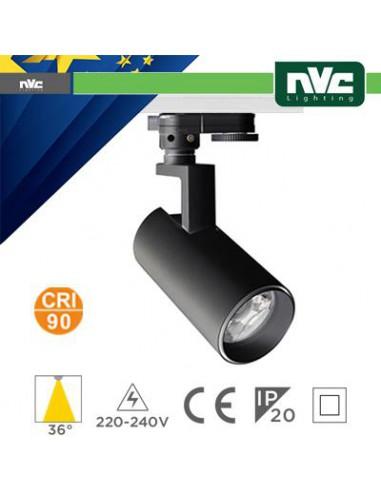 Proiettore LED a Binario Trifase - 24W 3000K 2100LM 36° CRI+90