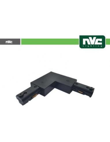 Connettore Forma L Binario Monofase - Colore Nero