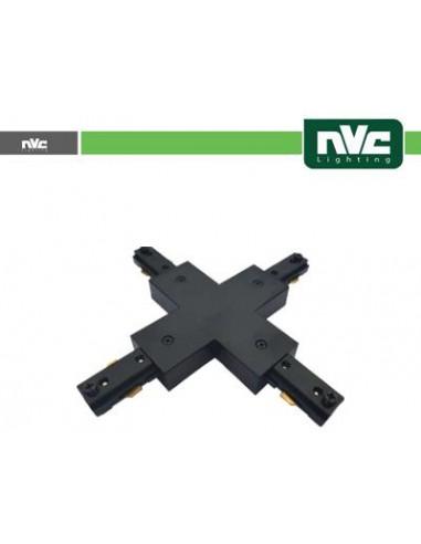 Connettore Forma X Binario Monofase - Colore Nero