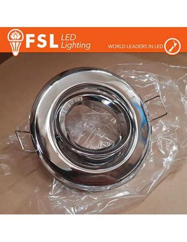 Portafaretto orientabile Colore Alluminio 90 x 25 x 70 - GU10