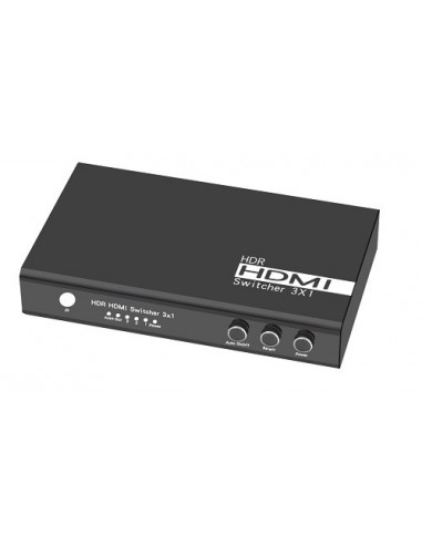 Switch 3x1 HDMI 2.0 18G 4k@60hz HDR, funzione AUTO ON/OFF