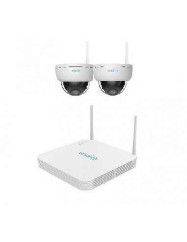 KIT UNIARCH Wifi, 4 Canali PoE Ultra 265, 2 Dome Wifi 2MP