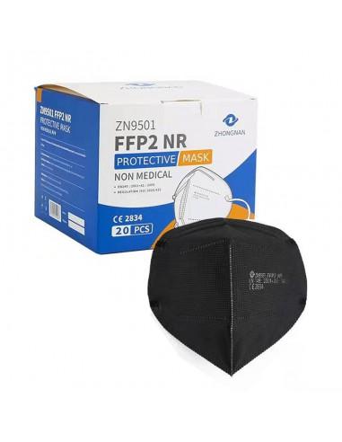 Mascherina protettiva monouso FFP2 nera - confezione da 20PZ