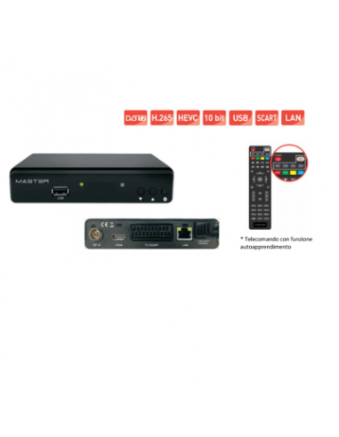 Decoder terrestre MASTER DVB-T2 H.265 HEVEC HFD 10bit