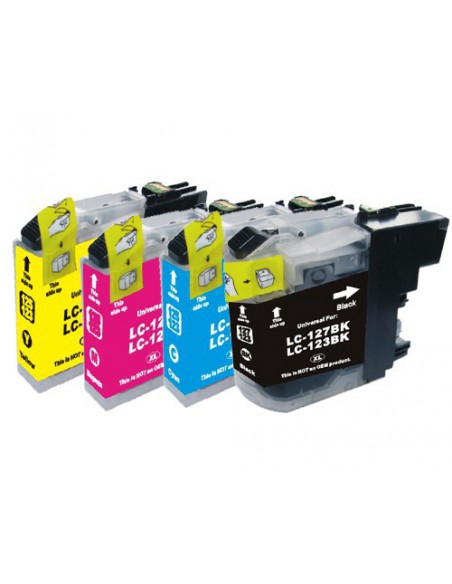 Cartucho para impresora Brother LC 121, 123 XL Negro compatible